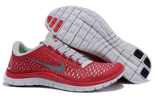 Nike Free Run 3.0 V4 Mens Red Grey Factory Store
